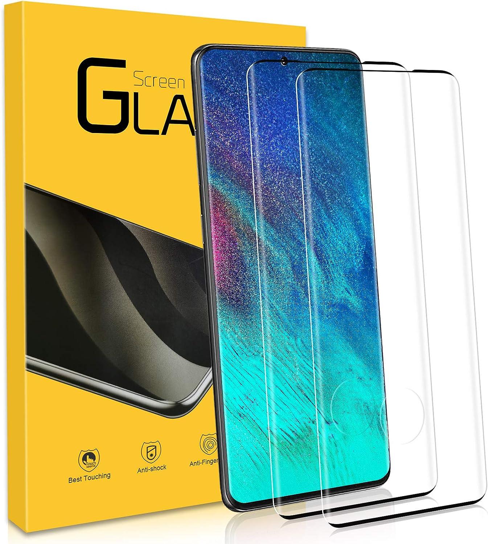 NONZERS 2 Unidades Cristal Templado para Samsung Galaxy S20 Plus 9H Dureza, Resistente a Araaozos y Golpes, Sin Burbujas, Anti Dactilares, Compatible con 3D Touch Protector para Galaxy S20 Plus