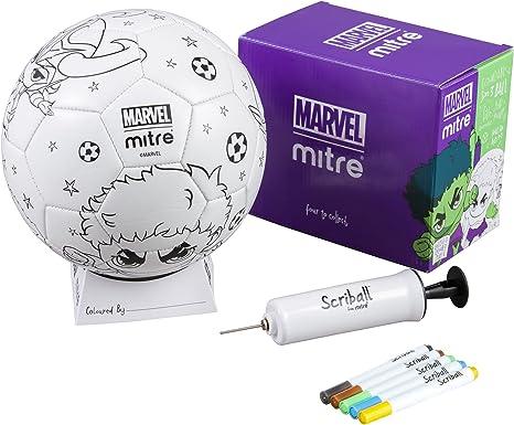 Mitre Hulk Scriball - Balón de fútbol con bolígrafos para Colorear ...