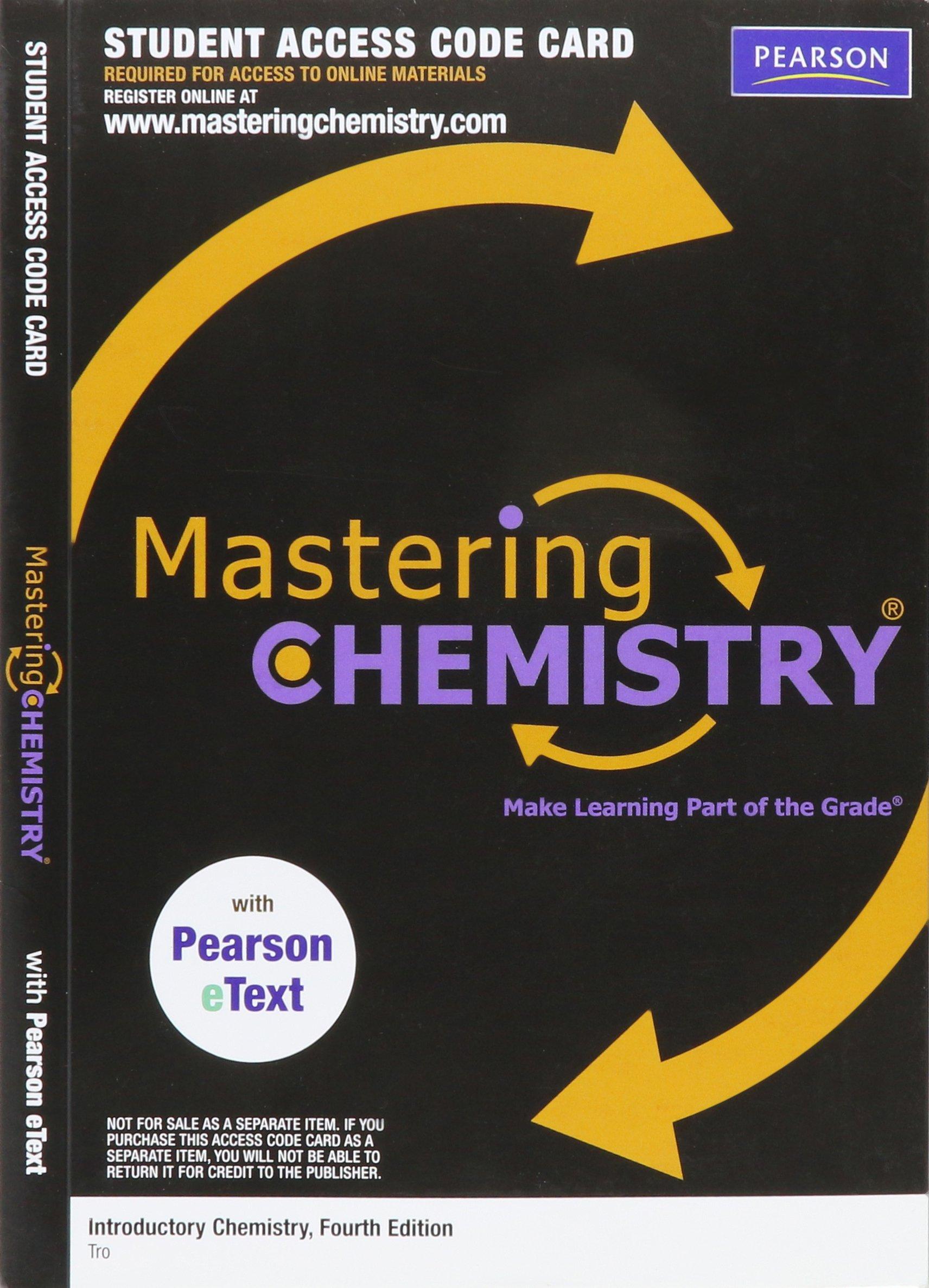 Mastering chemistry access code nivaldo j tro 9780321730022 mastering chemistry access code nivaldo j tro 9780321730022 amazon books fandeluxe Choice Image