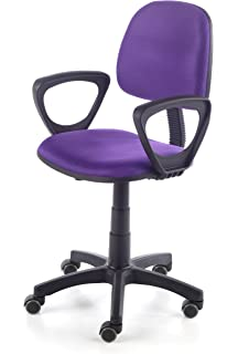 Due-home Silla de escritorio silla juvenil tapizado 3D, color negro ...