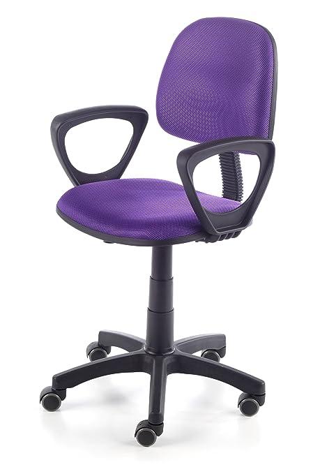Due-home Silla de escritorio silla juvenil tapizado 3D, color lila ...