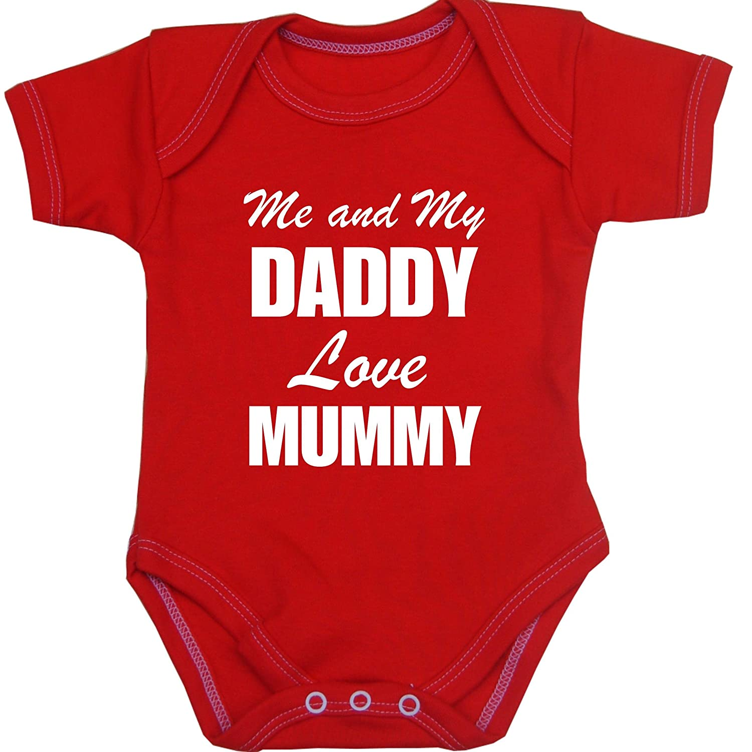 Amazon Me and My Dad Love Mummy Baby Bodysuit Vest Newborn