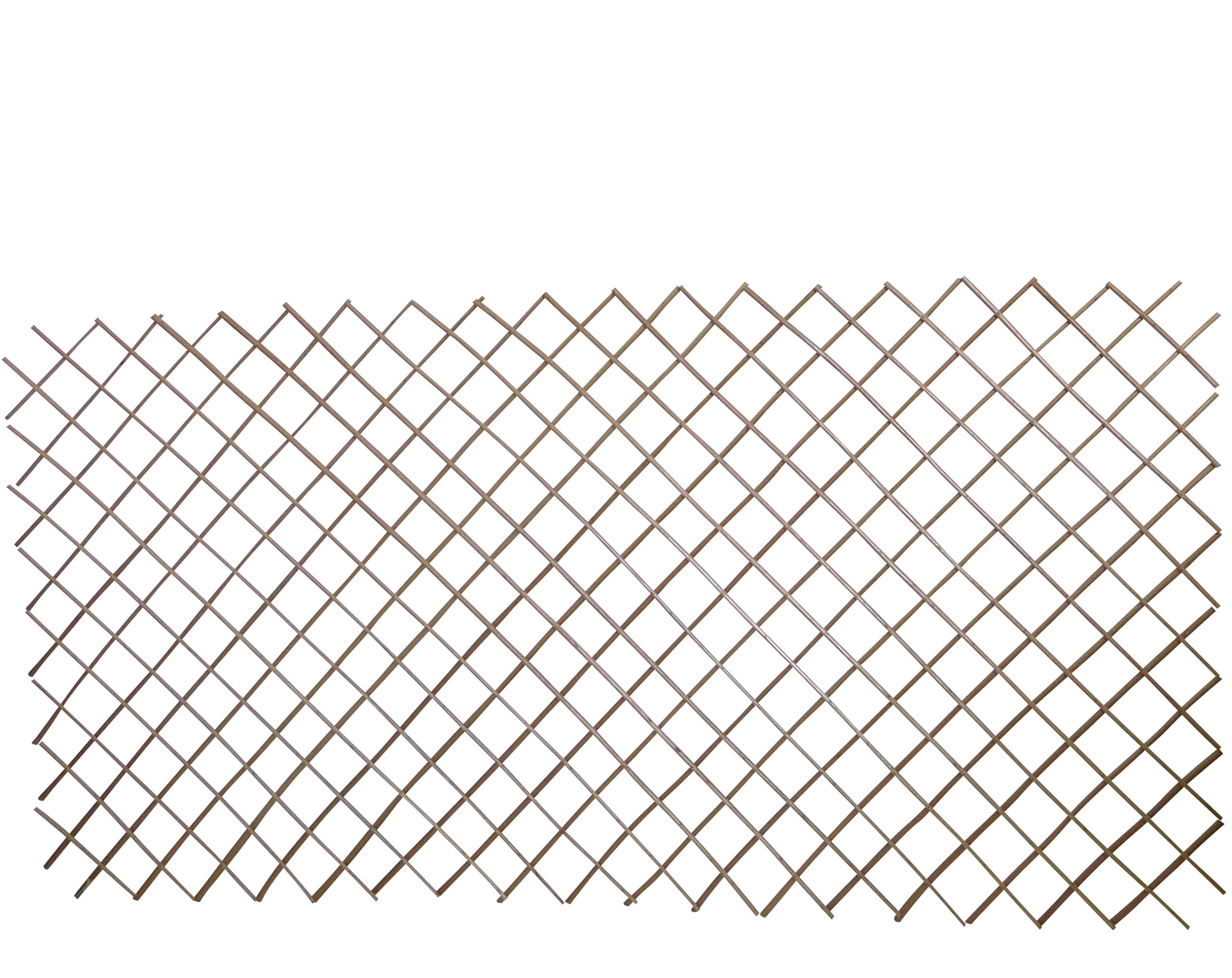 Master Garden Products WCFF-48, Carbonized Barkless Willow Expandable Fence, 48'' H x 72'' W/Pcs, Light Mahogany Color. (4)