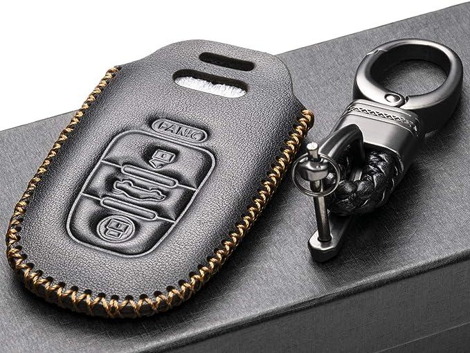 Amazon.com: Vitodeco - Funda de piel para llave de Audi A3 ...