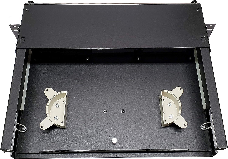 Aqua 19 2RU Rack Mount Adapters Steel 48 Fiber LC//OM3 Patch Only