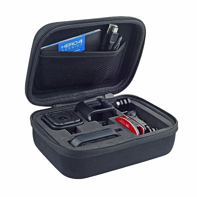 CamKix - Funda para cámara GoPro HERO5 y HERO4 Session, Ideal para Viajes o Almacenamiento, protección Completa, Ajuste, Incluye mosquetón y Gamuza de ...