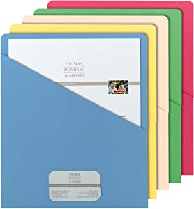 Smead Organized Up Slash File Jacket, Letter Size, Assorted Colors, 25 per Pack (75425)