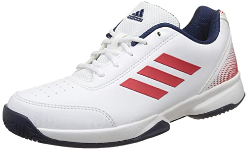 71c798fbcf3e7 Adidas Men s Racquettes White Corred Mysblu Tennis Shoes - 9 UK India (