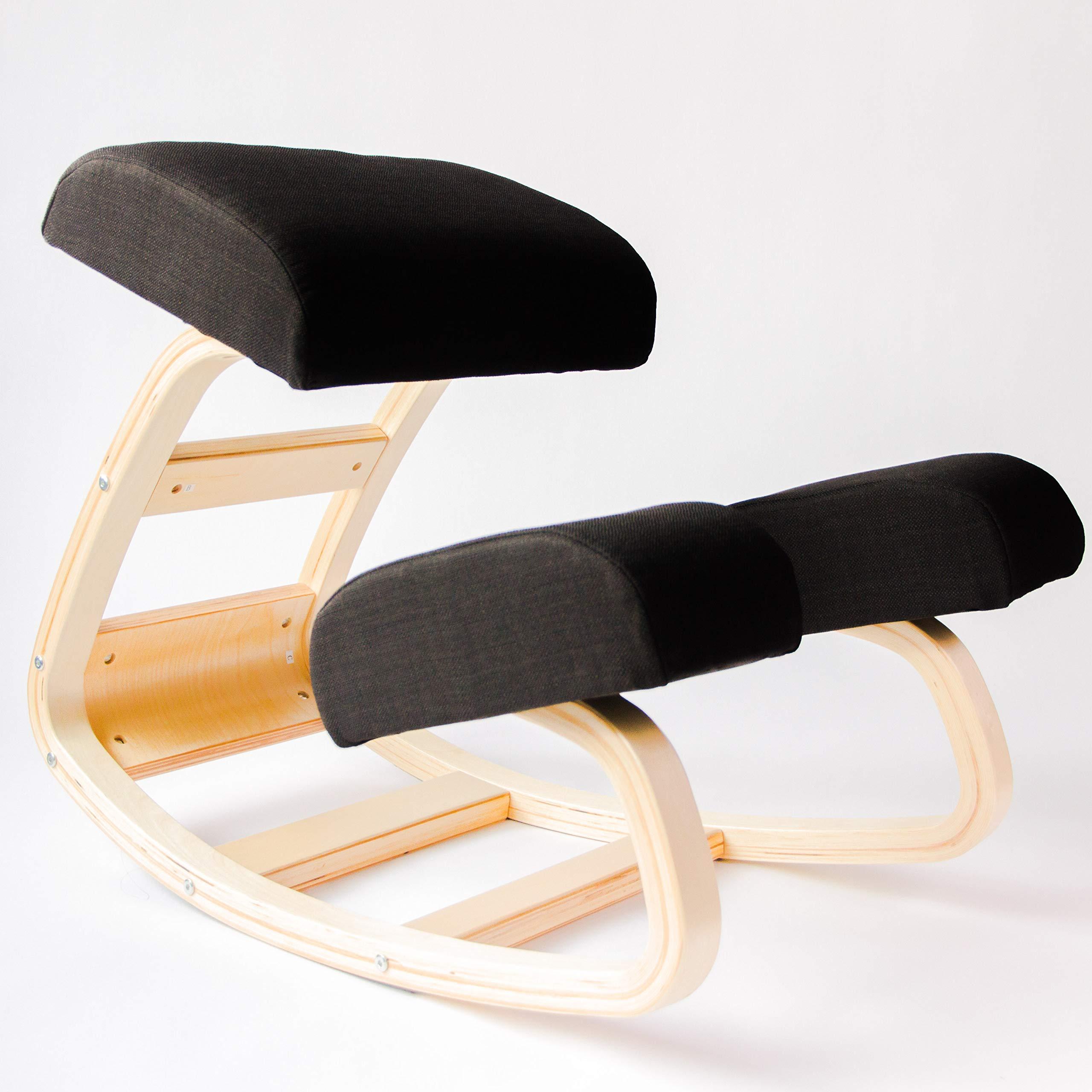 Swell Sleekform Austin Ergonomic Kneeling Chair Rocking Posture Correcting Wooden Stool For Office Home For Bad Backs Neck Pain Spine Tension Frankydiablos Diy Chair Ideas Frankydiabloscom