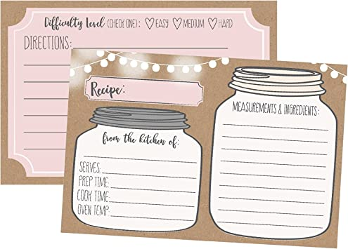 Candy Making 0823 Recipe Box Recipes Bride to Be Recipe Book Recipe Cards Cookbook Food Blank Recipe Cards Baking Album Style
