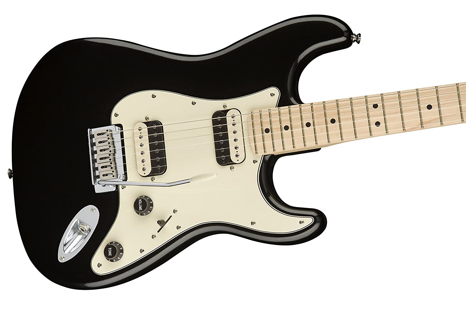 Amazon.com: Squier by Fender Contemporary Stratocaster Electric Guitar - HH - Maple Fingerboard - Black Metallic: Musical Instruments