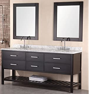 design element dec077b london 72 inch double sink vanity set