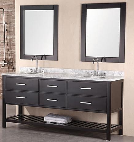 design element dec077b london 72 inch double sink vanity set
