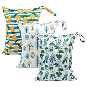 Amazon.com: Babygoal - Bolsas secas y húmedas para pañales ...