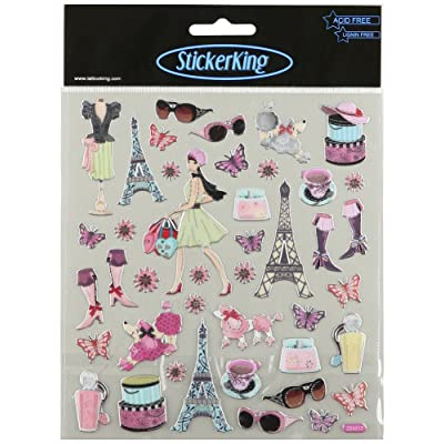 Tattoo King Multi-Colored Stickers-Bonjour!: Arts, Crafts & Sewing