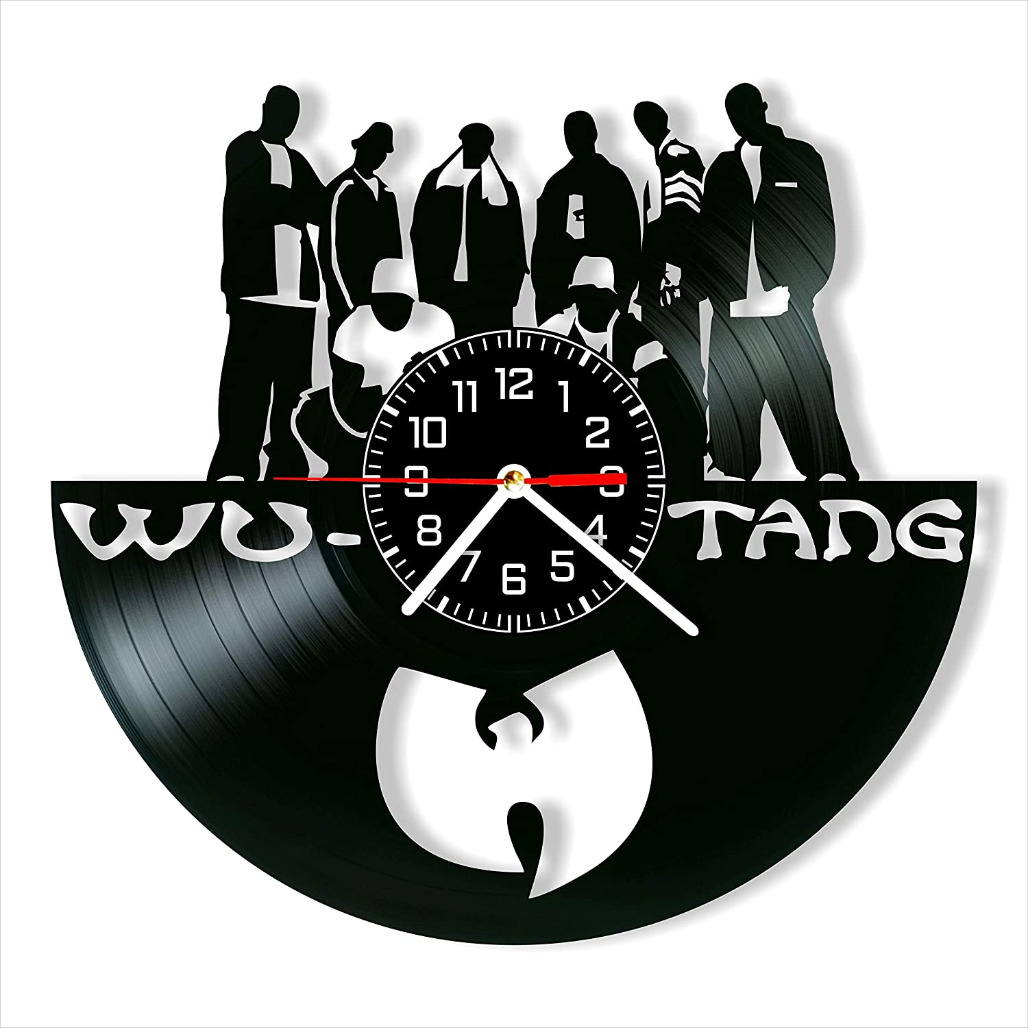 Wu - Tang Clan Vinyl Clock, Wu Tang Clan Wall Clock 12 inch (30 cm), Original Gifts for Fans WuTang Clan, The Best Home Decorations, Unique Art Decor, Original Idea for Home Decor