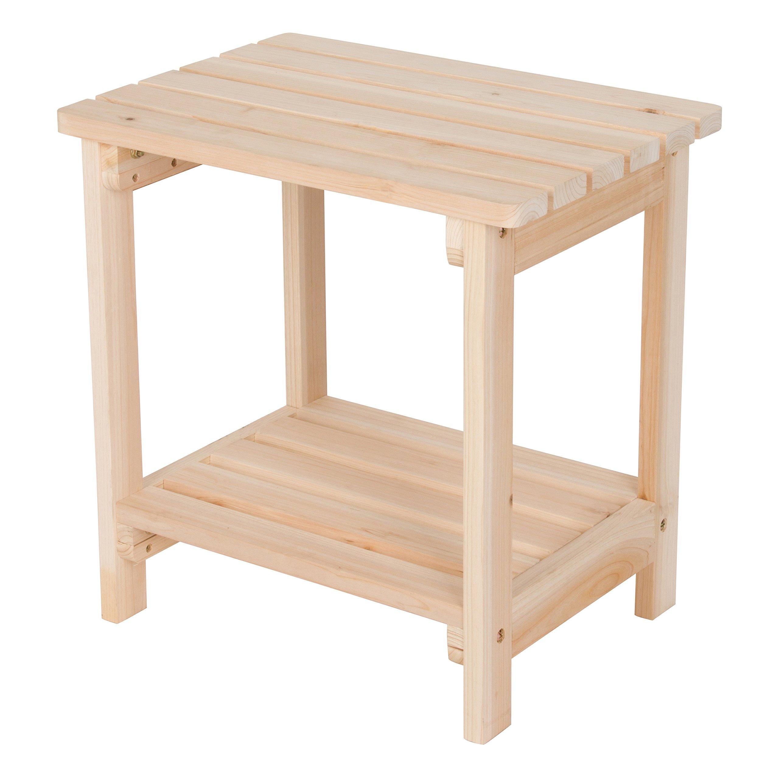 Shine Company Inc. 4104N Rectangular Side Table, Natural by Shine Company