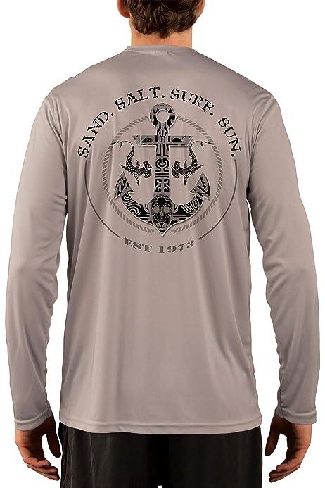 Pirate Cross Anchor Long Sleeve Performance T-Shirt
