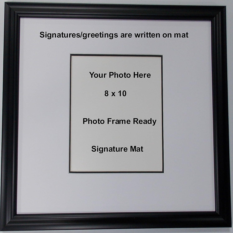 Amazon.com - Wall Mount Signature Memory Mat Photo Frame or Greeting ...