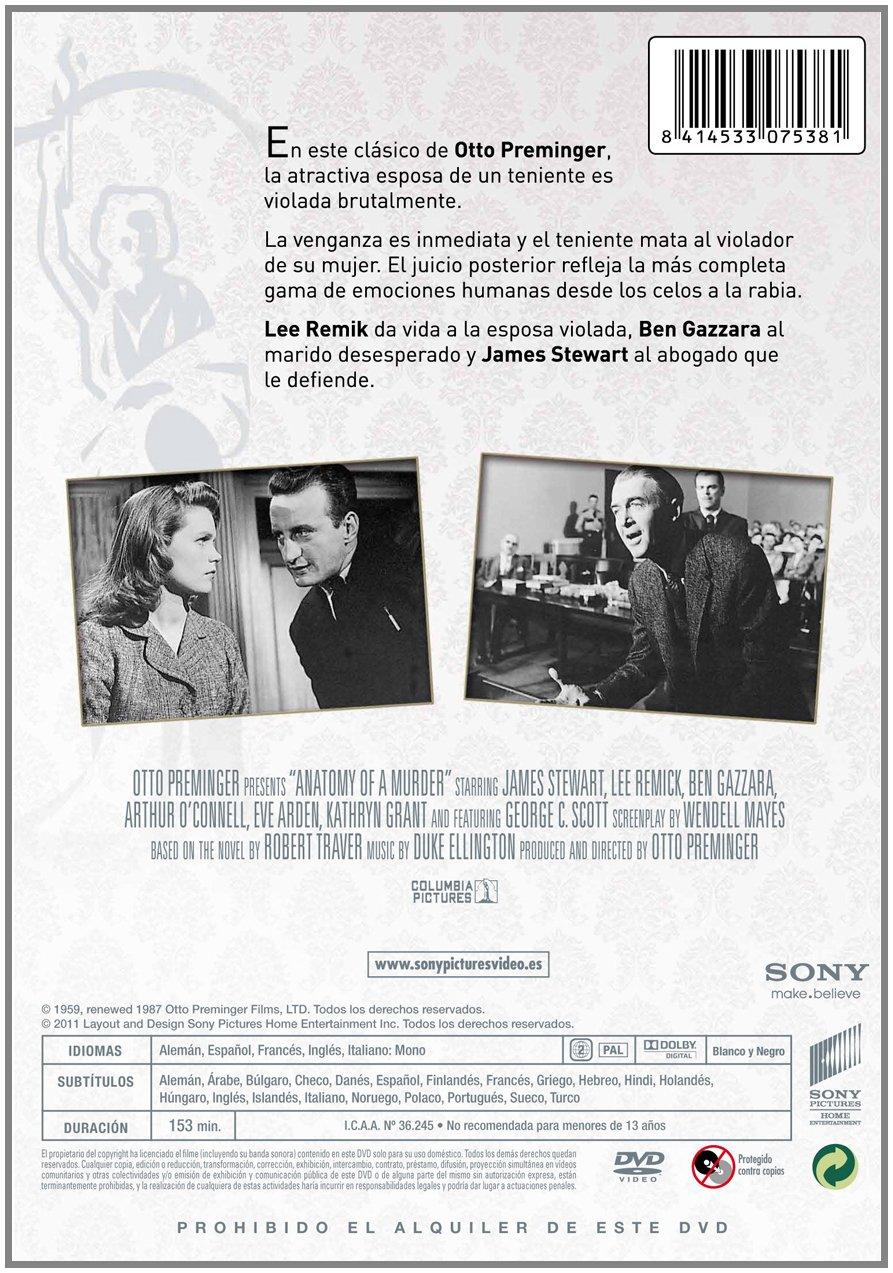 Anatomía De Un Asesino [1959] (Import): Amazon.co.uk: James Stewart ...