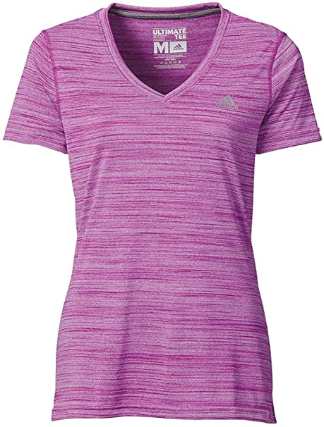 9cdef8378727 adidas Women s Ultimate Short-Sleeve V-Neck T-Shirt  S97571 (XS) at Amazon Women s  Clothing store