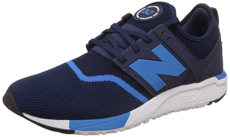 New Balance Hombres Negro/Rojo 247 Sport Zapatillas 41.5 EU|Blue