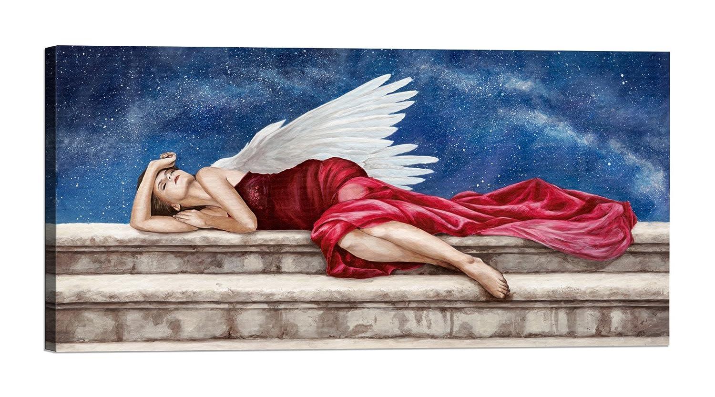 Rahmen Druck auf Leinwand mit Rahmen in Holz Sonya Duval Under A Starry Night 200x100 CM B07BNMXQBT | Neuheit