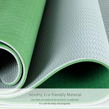 Amazon.com : Yoga MAT - ECO - Friendly - TPE Twin Color Yoga ...