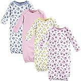 Luvable Friends Unisex Baby Cotton Gowns, Floral, 0-6 Months