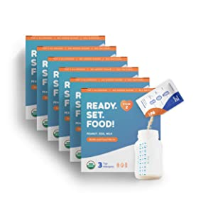 Easy Mix Early Allergen Introduction | Only Real Organic Foods, No Added Sugar | Stage 2 Ongoing Maintenance | 180 Packets | For Babies 4+ Months | By Ready Set Food