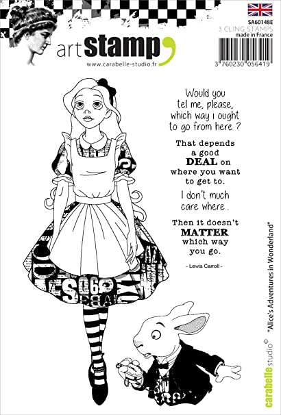 Carabelle Studio Alices Adventures in Wonderland Cling Sello, Caucho, 10.0x14.0x0.