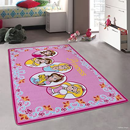 amazon com allstar pink rug kids baby room area rug princess