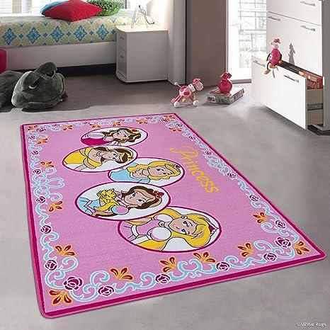 Amazoncom Allstar Pink Rug Kids Baby Room Area Rug Princess