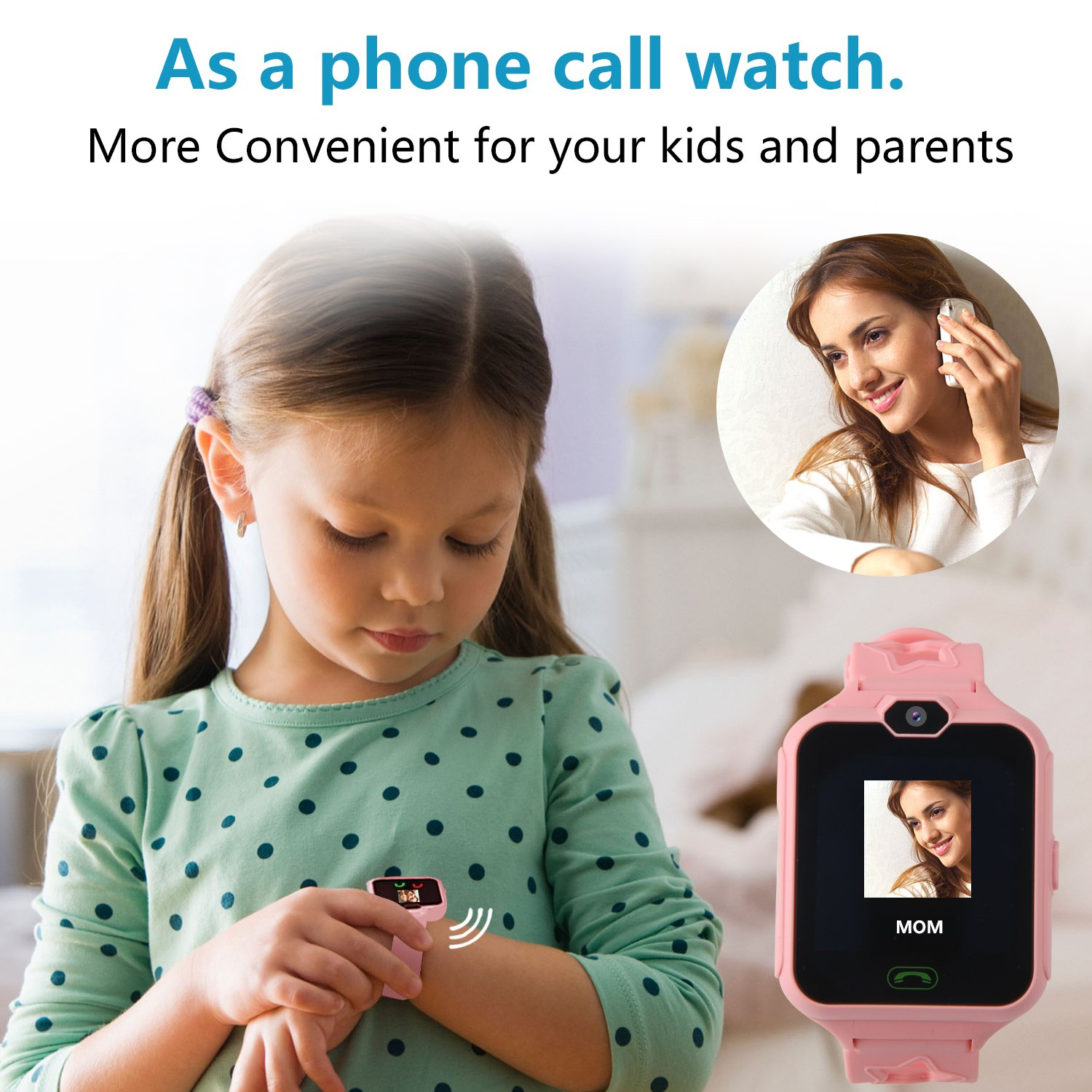 HSX_Z Phone Watch for Kids Smart Watch for Kids with Digital Camera Touch Screen, Phone Game Cool Toys Watch Gifts for Girls Boys Children Birthday Gifts Watch£­Pink by HSX_Z (Image #6)