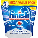 Finish Quantum Dishwasher Tablets, Original, 64 Tabs