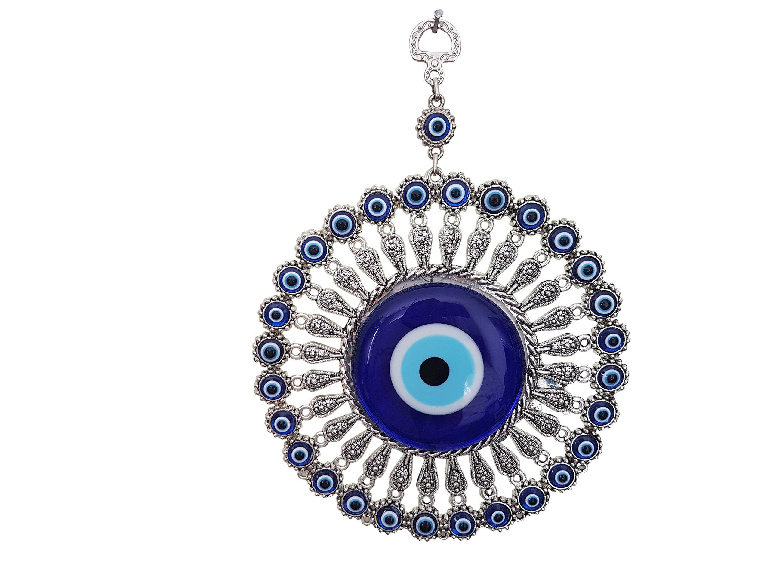 Bead Global Turkish Big Glass Turkish Evil Eye Bead Home Protection Charm-Hanging Ornament Wall Decor by Bead Global