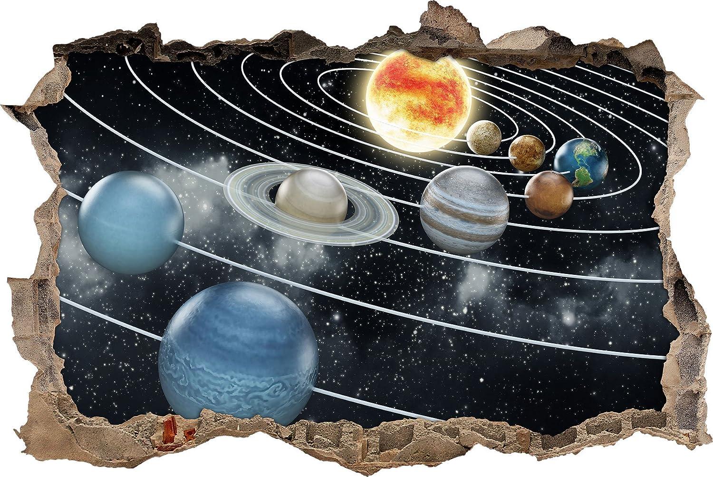 I pianeti nel solare svolta muro sistema in 3D guardano, formato parete o adesivo porta: 62x42cm, autoadesivi della parete, autoadesivo della parete, decorazione della parete Stil.Zeit