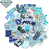 WOCOCO VSCO Waterproof Blue Stickers for HydroFlask Laptop Water Bottles, Cute Trendy Vinyl Stickers for Computers…
