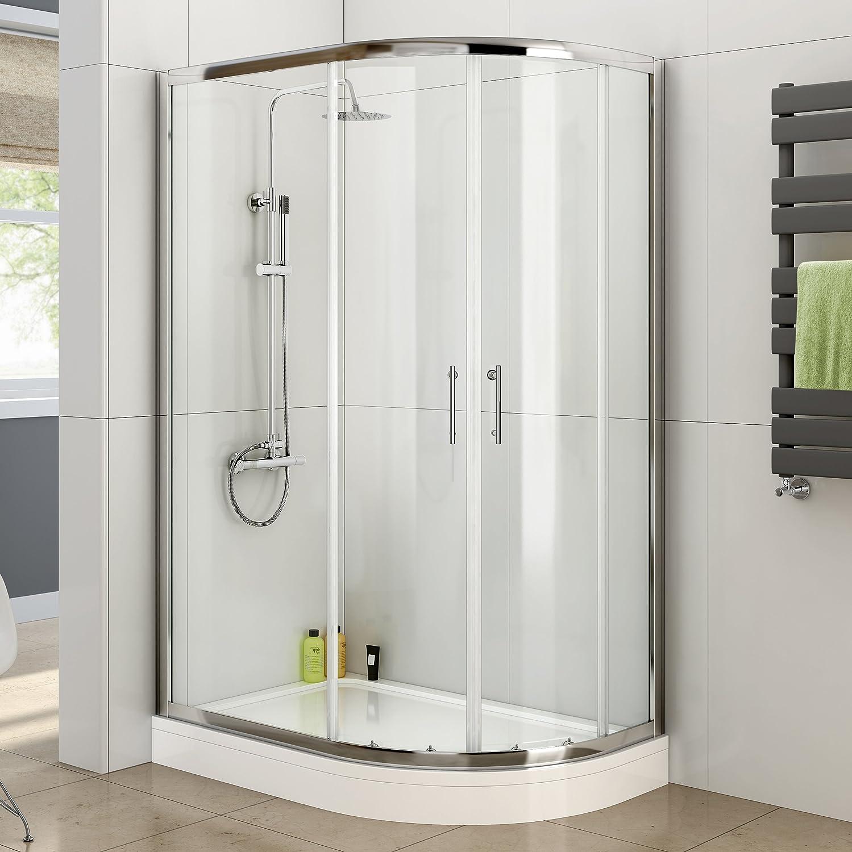 1000 x 800 mm para diestros cuadrante juego de fisureros para mampara de ducha de juego de plato y: iBath: Amazon.es: Hogar