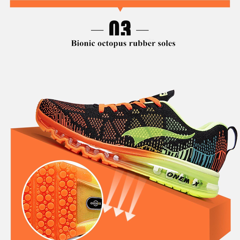 ONEMIX Chaussures de Course pour Homme Tricot 3D Chaussures l/ég/ères /à Coussin dair Basket Homme