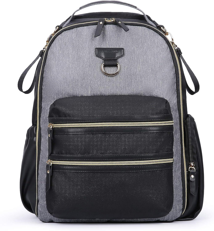mommore Diaper Backpack Wash-Free Diaper Bag Large Capacity Baby Nappy Bag