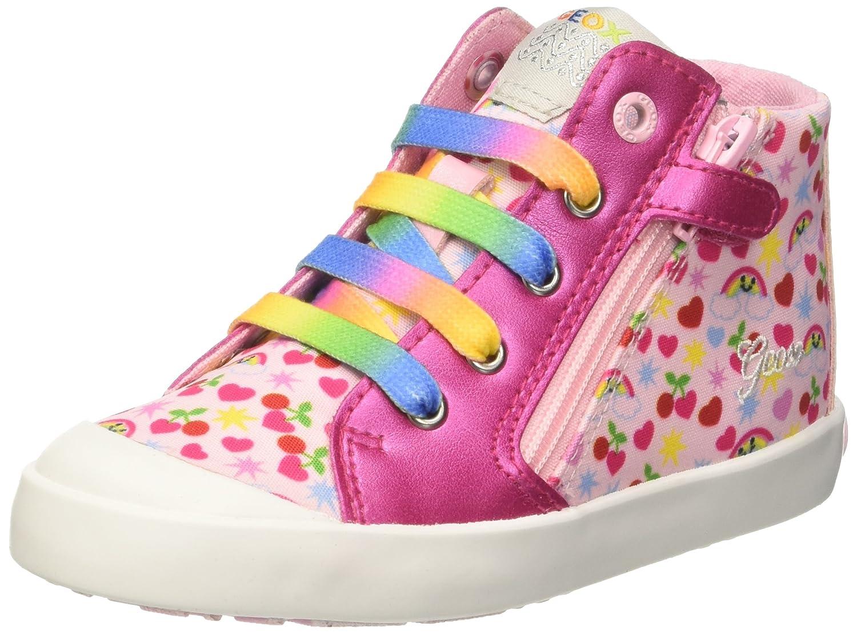 Geox B Kilwi A, Baskets Basses bébé Fille Rose (Pink/Multicolour) 25 EU B72D5A0ANAJ