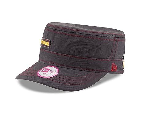 025ac324a New Era NFL Washington Redskins Women's Major Chic Adjustable Military Cap,  One Size, Graphite