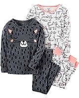 Carter's Girls' 4-12 4 Piece Cat Snug Fit Cotton Pajamas