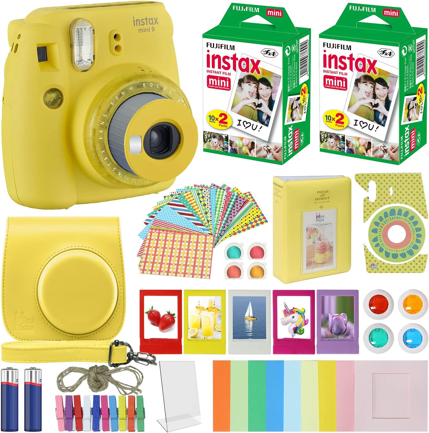Fujifilm Instax Mini 9 – Cámara instantánea con funda de ...