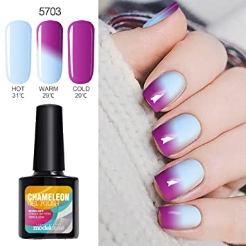 Amazon Modelones Thermal Colour Changing Gel Polish Soak Off