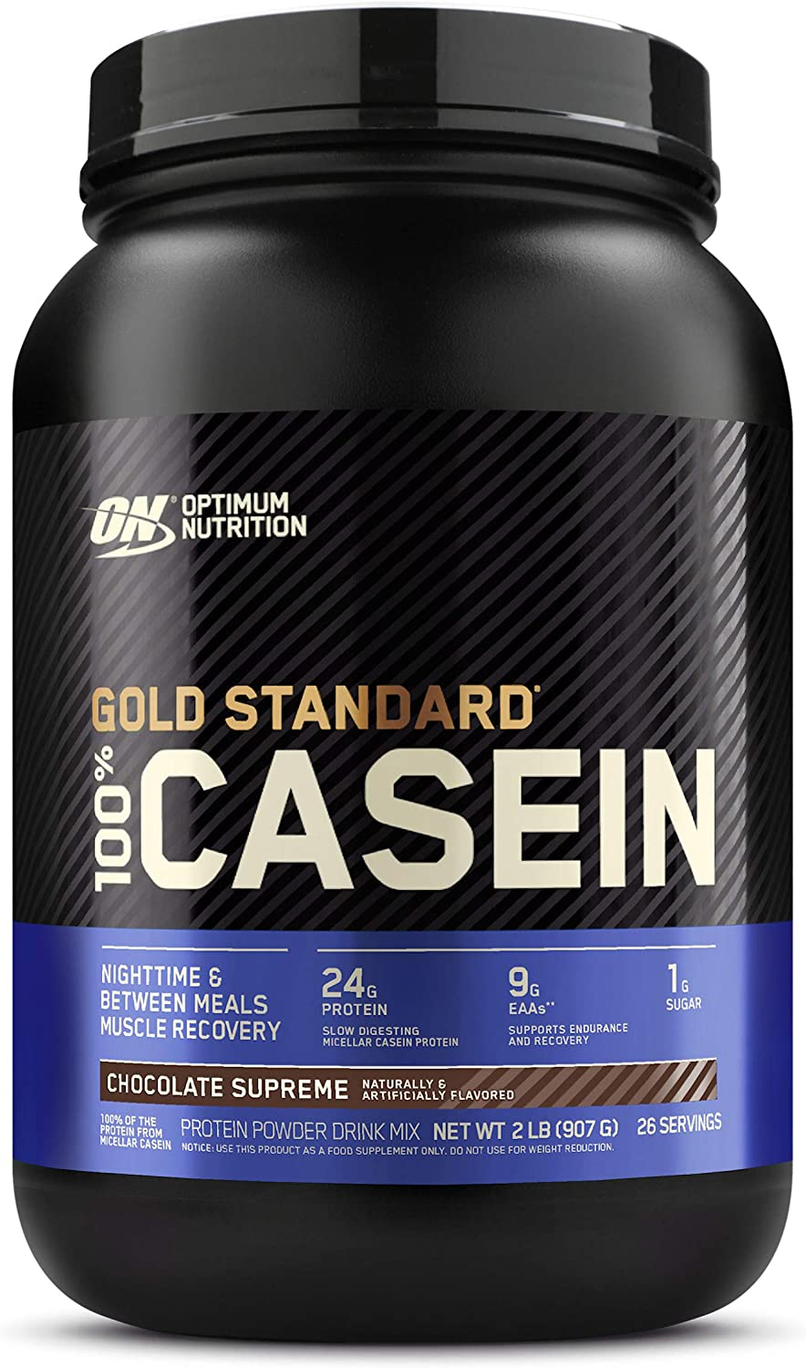 Optimum Nutrition Gold Standard 100% Micellar Casein Protein Powder, Slow Digesting, Helps Keep You Full, Overnight Muscle Recovery, Chocolate Supreme, 2 Pound (Packaging May Vary): Health & Personal Care