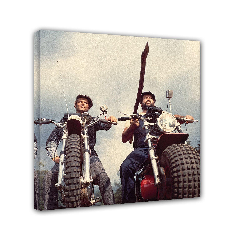 Bud Spencer Terence Hill - Zwei wie Pech und Schwefel - Motorrad - Leinwand (60 x 60 cm)