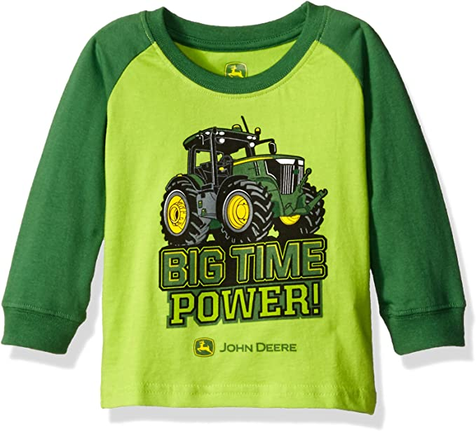 John Deere Boys Long Sleeve Raglan Tee T-Shirt