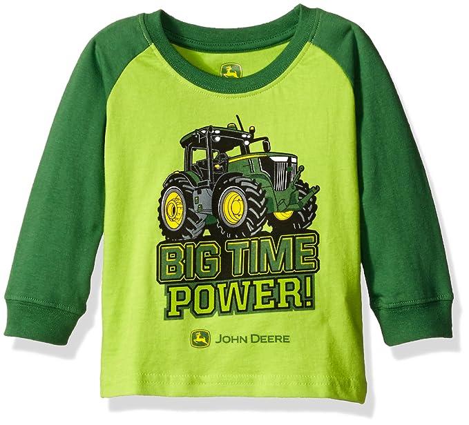 641e3d8ba Amazon.com: John Deere Boys' Big Time Power Tee, Lime Green/Green, 12  Months: Clothing